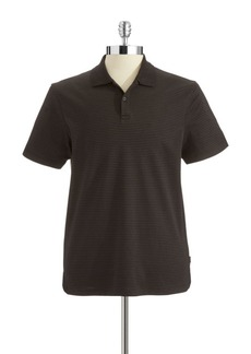 Calvin Klein Striped Liquid Cotton Polo Shirt