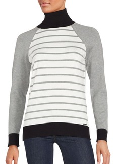 Calvin Klein Striped Long Sleeve Sweater