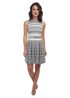 Calvin Klein Striped Lux Dress w/ Full Skirt CD4X73W5