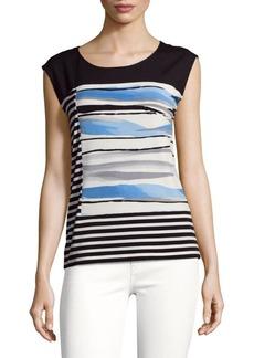 Calvin Klein Striped Roundneck Top