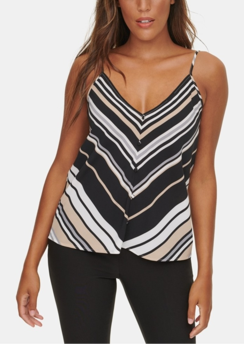 Calvin Klein X-Fit Striped Button Cami