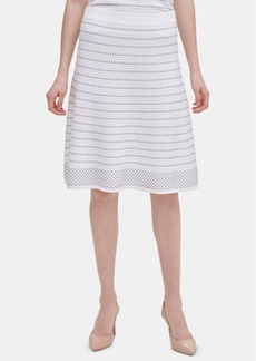 Calvin Klein Striped Stitched Sweater Skirt