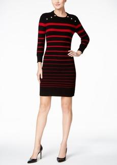 Calvin Klein Striped Sweater Dress