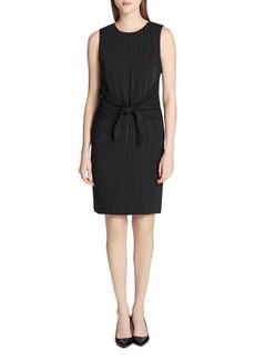 Calvin Klein Striped Tie-Front Dress