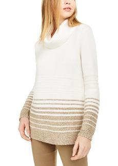 Calvin Klein Striped Turtleneck Sweater
