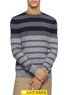Calvin Klein Striped Wool-Blend Sweater