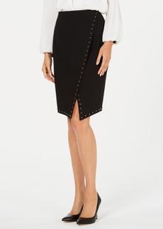 Calvin Klein Studded Asymmetric Pencil Skirt