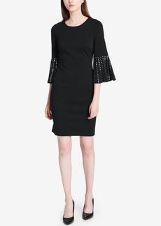 Calvin Klein Studded Bell-Sleeve Dress