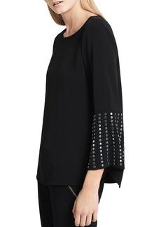 Calvin Klein Studded-Bell-Sleeve Top