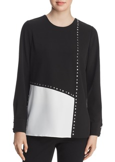 Calvin Klein Studded Color-Block Blouse