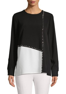 Calvin Klein Studded Colorblock Top