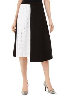 Calvin Klein Studded Colorblocked Skirt
