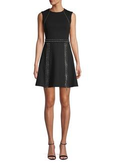 MICHAEL Michael Kors Studded Fit-&-Flare Mini Dress