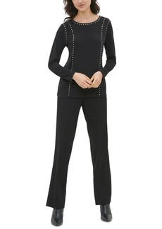 Calvin Klein Studded Long-Sleeve Top