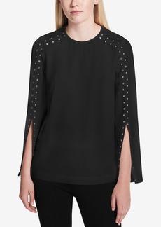Calvin Klein Studded Split-Sleeve Top
