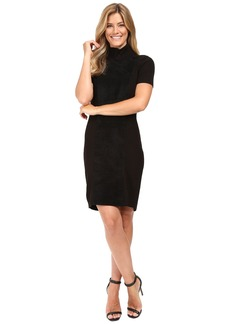 Calvin Klein Suede Front Turtle Neck Dress