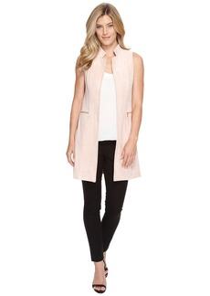 Calvin Klein Suede Vest with Zips