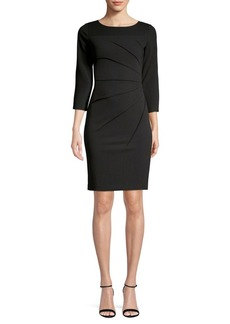 Calvin Klein Sunray-Pleat Sheath Dress
