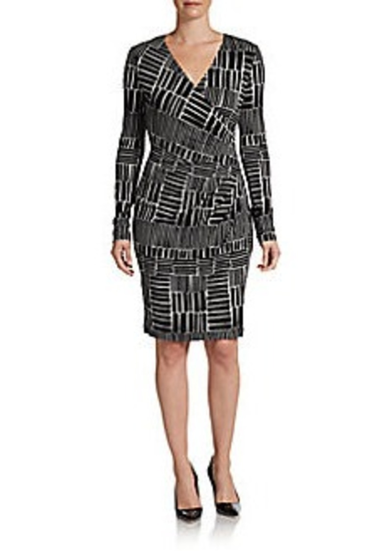 Calvin Klein Surplice Wrap Dress