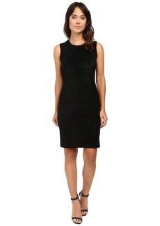 Calvin Klein Sweater Dress w/ Suede Front