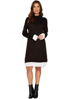 Calvin Klein Sweater Dress with Shirting