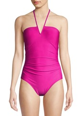 Calvin Klein Swim Halterneck One-Piece Swimsuit