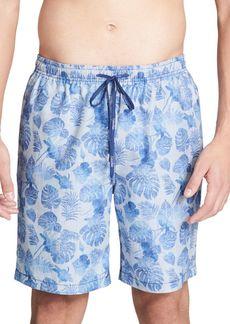 Calvin Klein Leaf-Print Swim Shorts