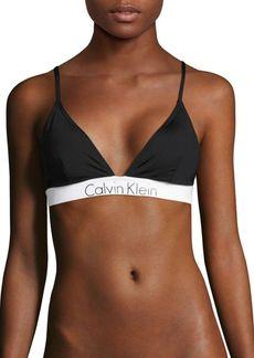 Calvin Klein Swim Logo Trim Bikini Top
