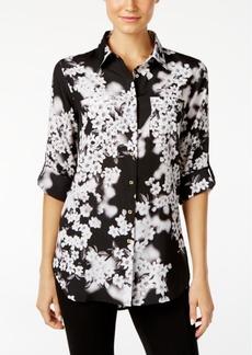Calvin Klein Tab-Sleeve Printed Tunic