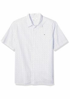 Calvin Klein Tall Mens Short Sleeve Button Down Stretch Cotton Shirt
