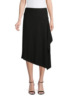 Calvin Klein Textured Asymmetric Midi Skirt