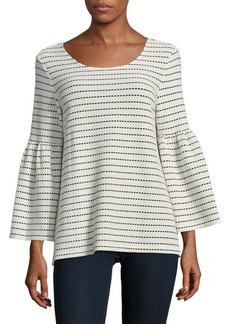 Calvin Klein Textured Bell-Sleeve Top