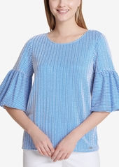 Calvin Klein Textured Bell-Sleeve Top