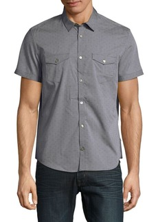 Calvin Klein Textured Cotton Button-Down Shirt
