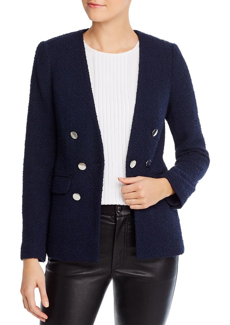 Calvin Klein Textured Double-Breasted Blazer