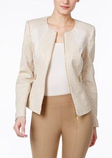 Calvin Klein Textured Embellished Moto Jacket