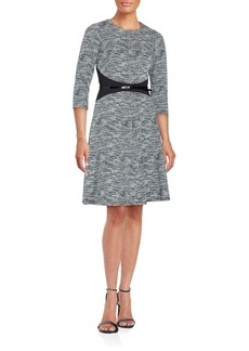 Calvin Klein Textured Fit-&-Flare Dress