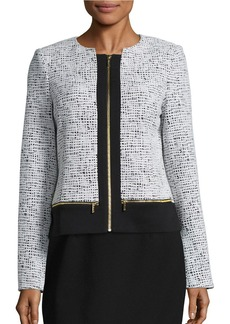 CALVIN KLEIN Textured Knit Jacket