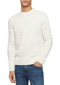 Calvin Klein Textured Logo Crew Sweater