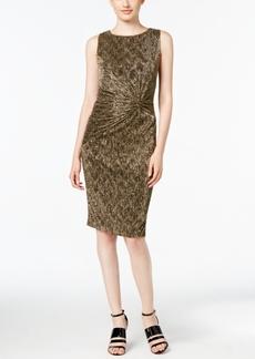 Calvin Klein Textured Metallic Twist-Front Dress