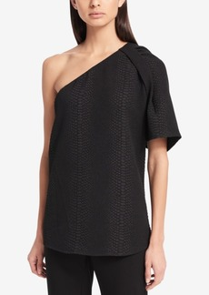 Calvin Klein Textured One-Shoulder Top