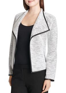 Calvin Klein Textured Open Flyaway Jacket