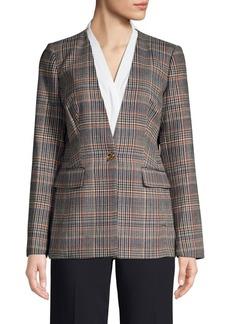 Calvin Klein Textured Plaid Jacket