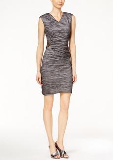 Calvin Klein Textured Side-Broach Sheath Dress