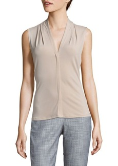 Calvin Klein Textured Sleeveless Blouse