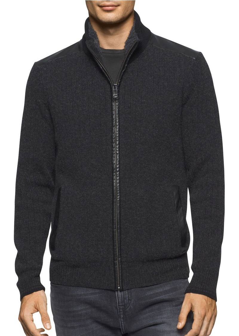 CALVIN KLEIN Textured Wool-Blend Jacket