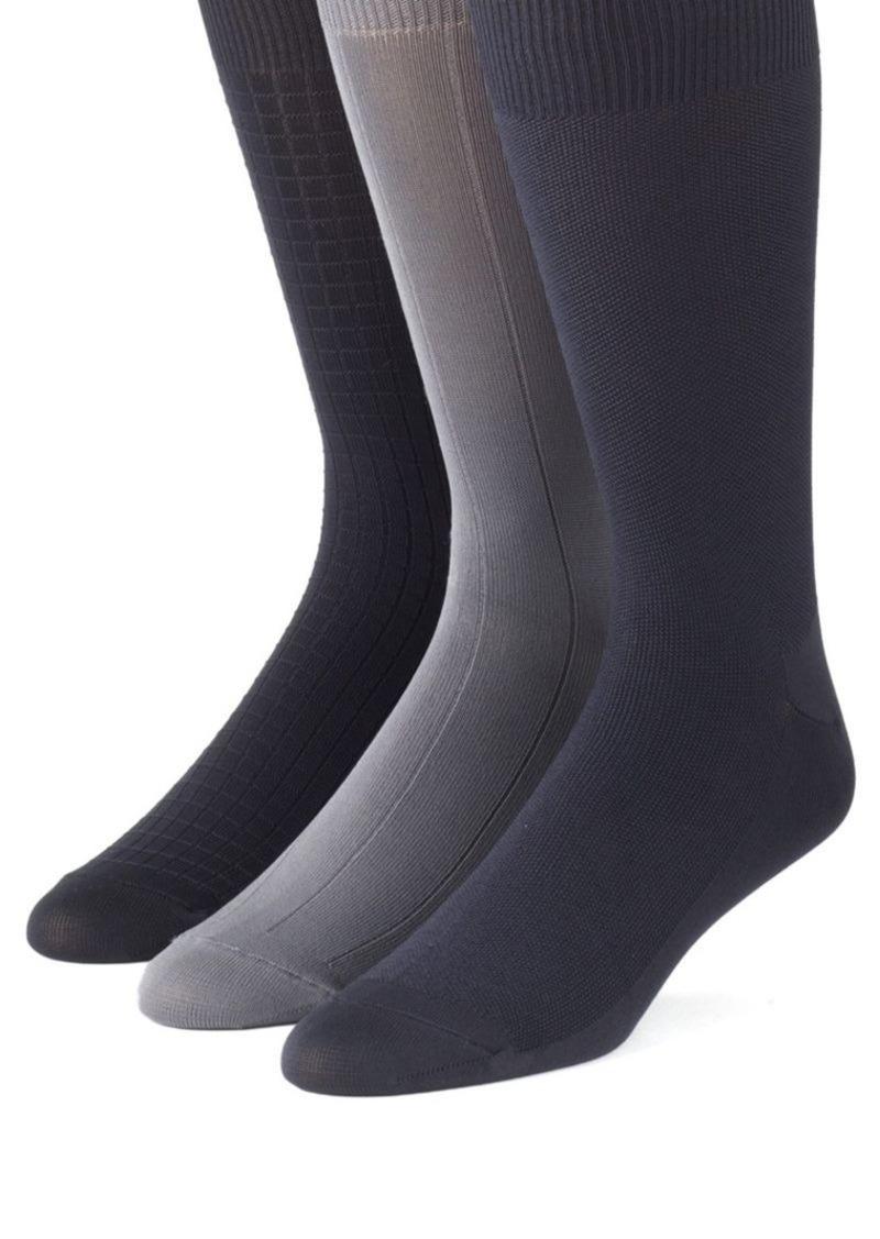 Calvin Klein 3-Pair Microfiber Socks