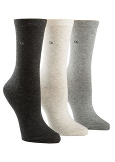 CALVIN KLEIN Three-Pack Sparkle Crew Socks