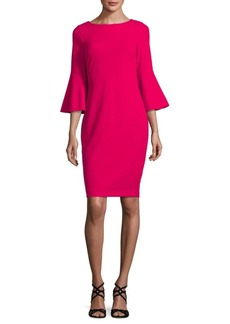 Calvin Klein Three-Quarter Bell Sleeve Dress