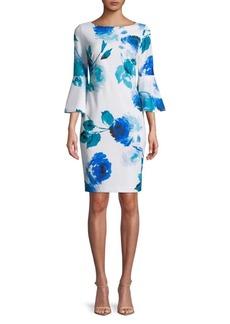 Calvin Klein Three-Quarter Floral Dress